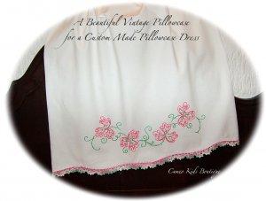 Crystal - Summer Slip Dress - Pillowcase - Dress - Pink and Green