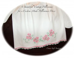 Crystal - Summer Slip Dress - Pillowcase Dress - Pink and Green