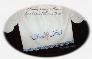 Leila - Recycled Vintage Pillowcase Dress - Bluebirds - Easter Dresses for Little Girls