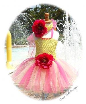 Strawberry Lemonade Toddler Tutu Dress - Flower Headband � Birthday � Parties � Princess Party