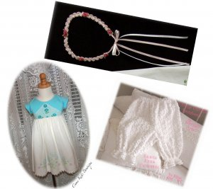 Custom Order for Shannon Only - Headband - Chenille Pantaloons - Callie Pillowcase Dress Onesie