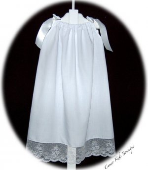 Custom Order for Leigh Clay Only - 2 Wedding Pillowcase Dresses and Lace