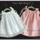 Custom Order  for Mary Stricklen Only - 2 Vintage Pillowcase Dresses with Fabric Ties