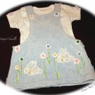 Vintage Inspired Sweet Baby Chenille Jumper with Tee - Darling Bunnies