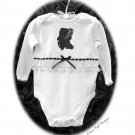 Lady Kate Altered Silhouette Baby Onesie - Vintage Inspired Altered Baby Couture