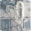Shabby Romantic Hanging Lace Wire Heart with Crystal Prism
