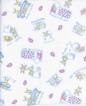 RABBITS GOTO BED- PILLOW FIGHT ON COTTON RIB KNIT