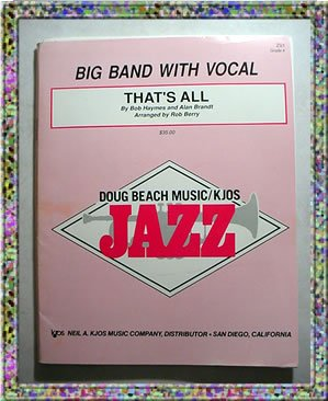 That's All Big Band with Vocal Sheet Music Doug Beach Music Kjos