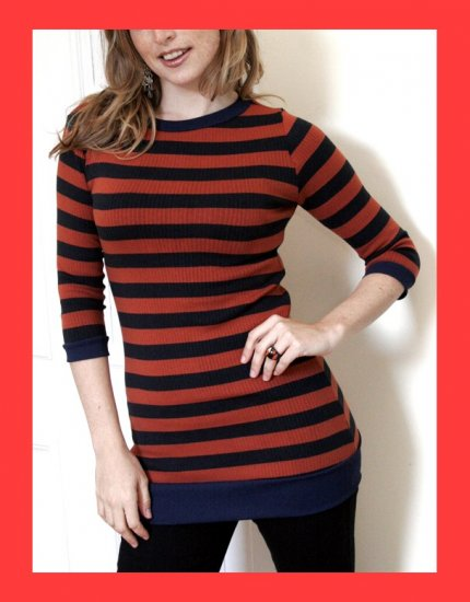 PAPAYA Great Beatnik Striped Tunic - Small to Medium