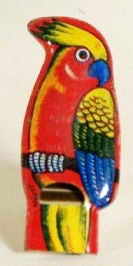 Small Cockatoo Parrot Japan Tin Whistle