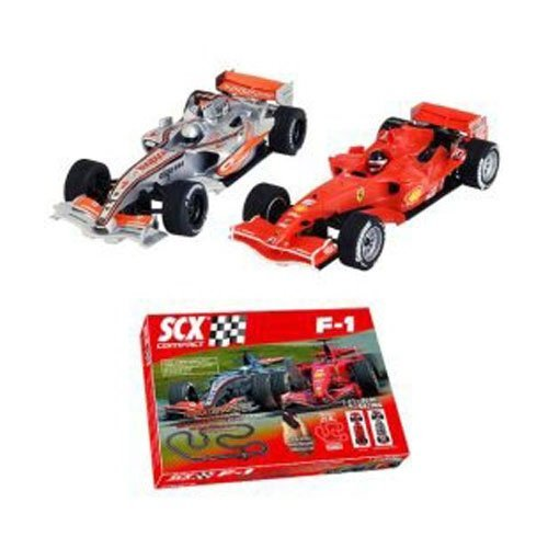 SCX Compact 1:43 Scale Slot Car F-1 Racing Set NEW SEALED OOP HArd to Find