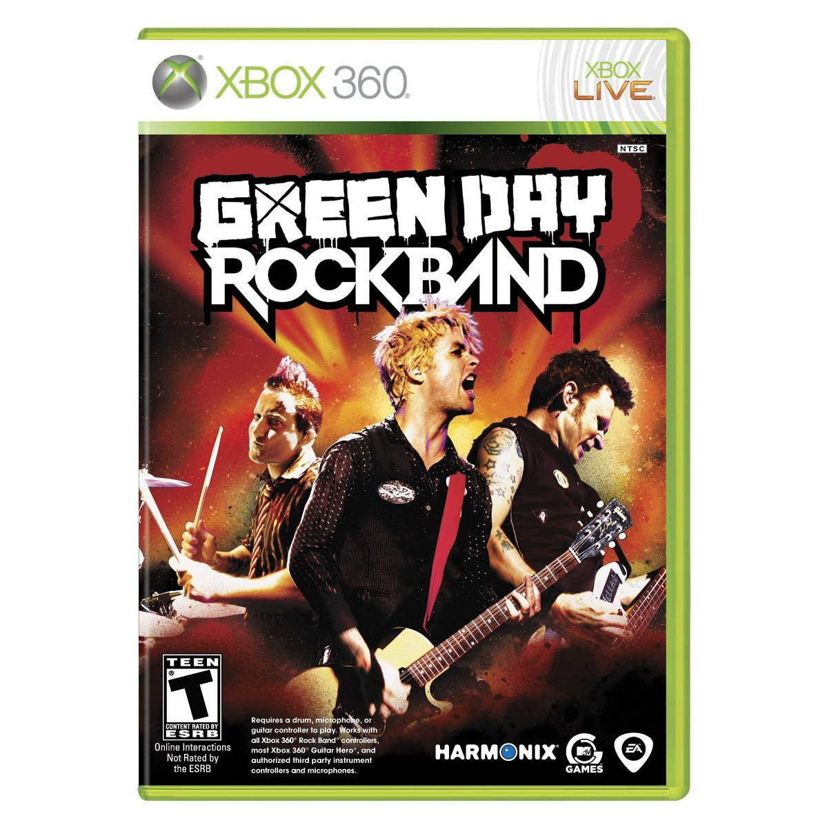 Green day rock band for xbox by mtv games ea harmonix