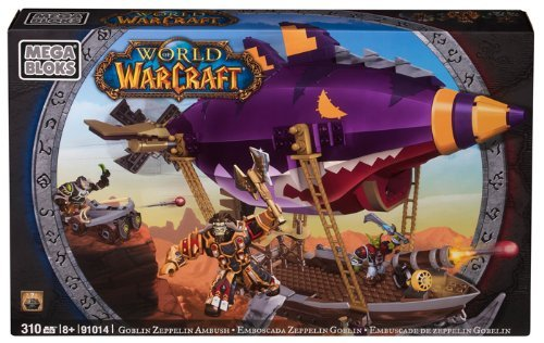 MEGA BLOKS World of Warcraft Goblin Zeppelin BRAND NEW BNIB FREE SHIPPING