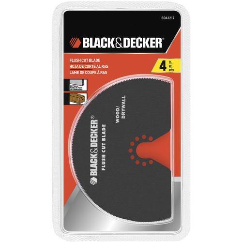 "Black & Decker 4"" Flush Cut Saw Blade BDA1217 for Oscillaating Multi-Tool B&D"