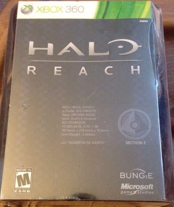 HALO Reach Limited Edition (2010) For XBox 360 New SEALED FREE SHIPPING