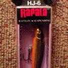 RAPALA Husky Jerk HJ-6 GOLD  New In Package HJ06
