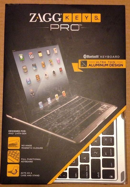 ZAGG Keys ZAGGKeys PRO Apple iPad 2/3/4 Aluminum Keyboard Case Stand NEW THIN FREE SHIPPING