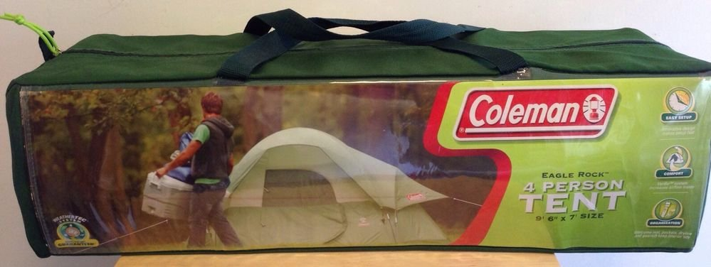 COLEMAN  Eagle Rock  4 Person Dome Tent 9u00276  X 7u0027 NEW Never Opened Green & COLEMAN