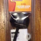 COLEMAN Locking Knob For Bike Racks with Two-keys NEW SEALED Black NOS