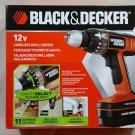 "Black & Decker Smart Select Cordless Drill/Driver BD12PSK 12V NiCd 3/8"" NEW NIB FREE SHIPPING"