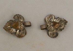"""2 Metal Acorn Vest Buttons- 1-3/8""""-BUTTON VINTAGE 1-3/8 Inch"""