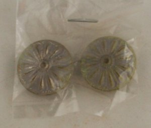 6  Molded Aluminum Buttons- BUTTON VINTAGE 7/8 Inch