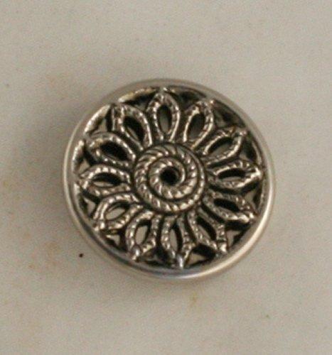 Aluminum/Steel Twinkle METAL Button VINTAGE 3pc constr 1-1/16 Inch