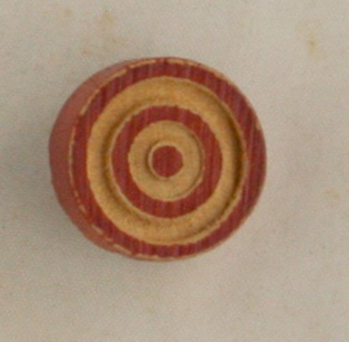 """Carved WOOD """"Bulls Eye"""" Button VINTAGE BUTTON +*"""