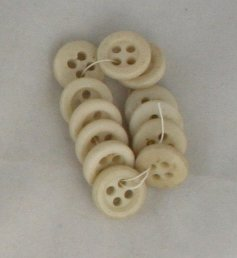 12 Porcelain Sew thru Buttons-VINTAGE BUTTONS-1/2 In