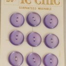 Violet-Card-LeChic-Plastic VINTAGE BUTTONS 5/8 Inch