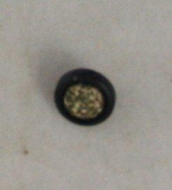 Plastic Glitter OME VINTAGE BUTTON 3/8 Inch Black