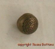 Brass Rope Embossed Ball VINTAGE BUTTON 5/8 In
