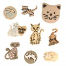 Jesse James Dress It Up Button Mania- Feline Fancy