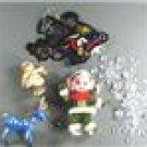 1970s Mixed Ornaments-Lot of 8-Wood, Felt Elf, Plastic