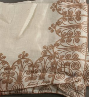 Vintage Handkerchief-Signed Tannis Keefe-Screen Print