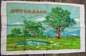 Australia STARCRAFT Linen Towel Sheep Grazing AUSTRALIA