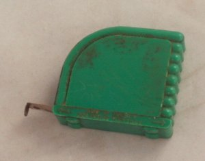 Vintage Tape Measure-Celluloid Case-Made in W Germany