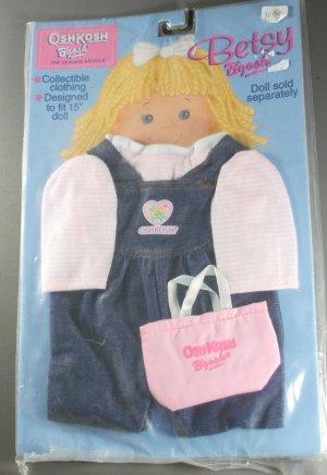 "Betsy B'Gosh Collectible Clothing Denim Jumper 15"" Doll"