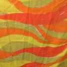 Burlington Vera Originals Twin XLong Flat Sheet 1973 Orange,Yellow,Green