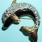 Spoontiques Pin / Brooch - Crystal Dolphin