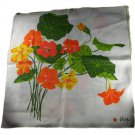 "Vera Ladybug Nasturtiums Set of 4 Cloth Napkins 16"" Square"