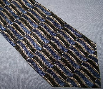 Barrington Black Blue Silk Tie Necktie C28 ~