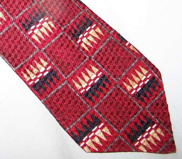 Monterey Bay J. Blades Bold Red Silk Tie Necktie C120 ~
