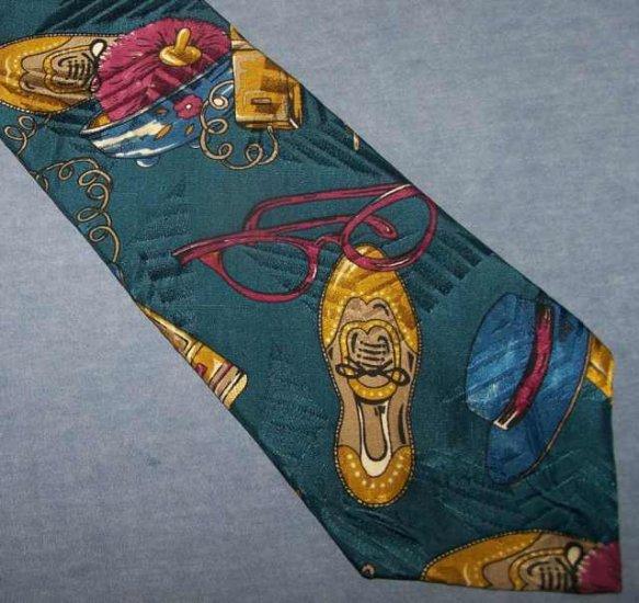 Giovanni Valentino Novelty Silk Tie Necktie Shoes Shopping C128 ~