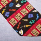 Vicky Davis Big Brown Bag Silk Tie Necktie C26 ~