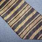 Oscar de la Renta Navy Blue Striped Tie Necktie C192 ~