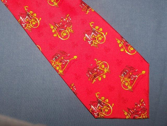Andre Lurton Creation Projectif Red Silk Tie Necktie C77 ~