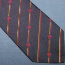 J&B Rare Scotch Navy Blue Striped Skinny Silk Tie Necktie C22 ~