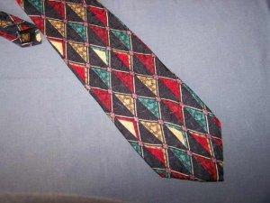Karl Lagerfeld Bright Diamonds Silk Tie Necktie K1 ~