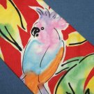 Carriage Cravats Watercolor Parrot Cotton Tie Necktie C23 ~